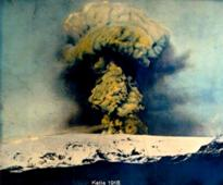 Eruption Katla 1918